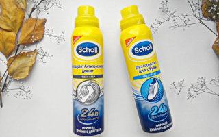 Антиперспирант Scholl против неприятного запаха и пота ног