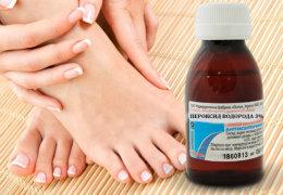 Лечение перекисью трещин на ступнях и пятках: особенности и правила