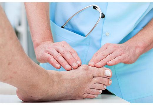 диагностика деформации стопы