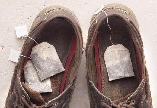 Чайные пакетики в ботинке