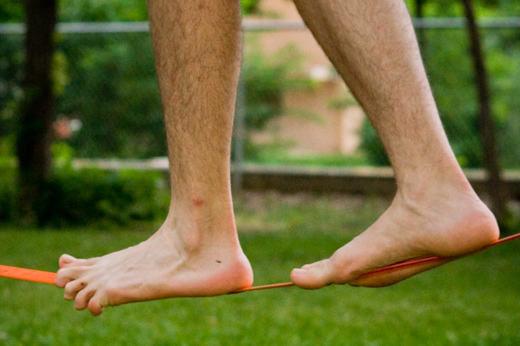 ноги и канат
