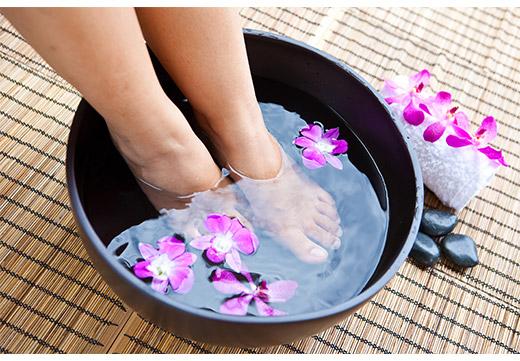 Лечение шишки ванночкой