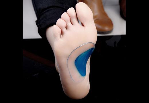 силиконовая подкладка для стопы