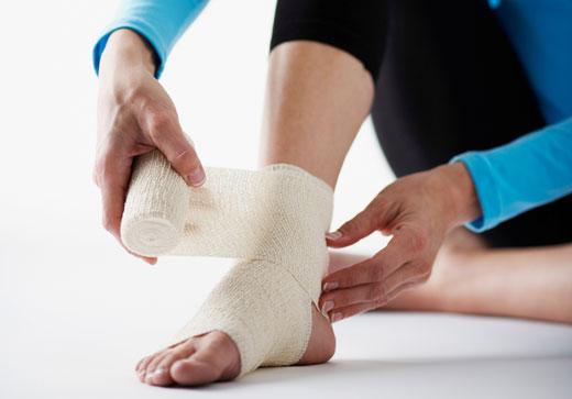 уход за поврежденной ногой